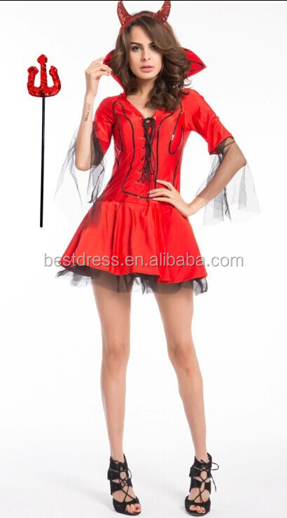 2015 Walsoninstyles hot sale fancy dress female red devil costumes