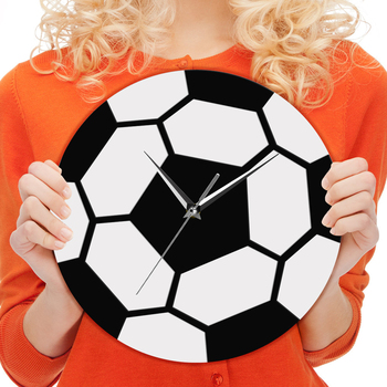 3D Football Wall Art Acrylic Quartz Retro Wall Clocks Modern Soccer Bedroom Decoration Custom Clock