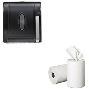 KITGEP28706GEP54338 - Value Kit - Georgia Pacific Nonperforated Paper Towel Rolls (GEP28706) and Georgia-Pacific Vista 54338 Black Hygienic Push Paddle Roll Paper Towel Dispenser (GEP54338)