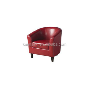 high quality restaurant red leather tub chair