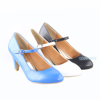 China factory Comfortable  Kitten Heel Mary Jane  Hot Sale low heel Lady Working Dress Shoes