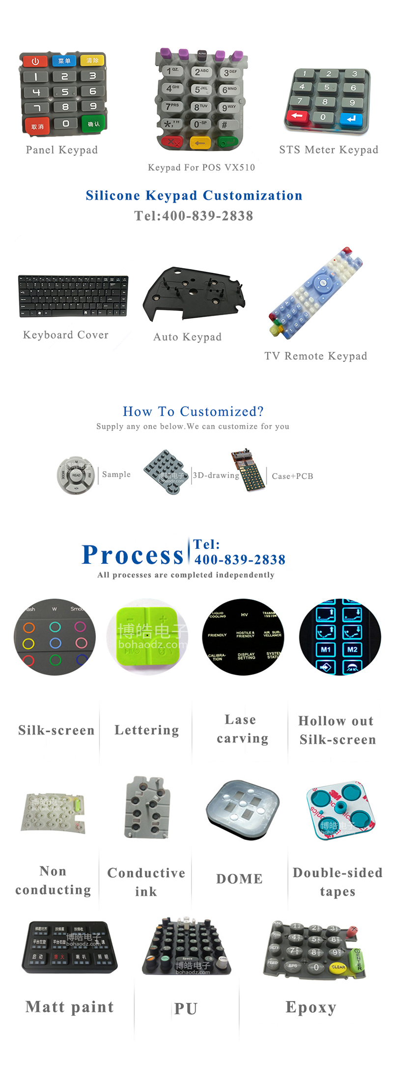 10 Years Professional Manufacturer Customize LED Screen Silicone Rubber Button Keypad Mold