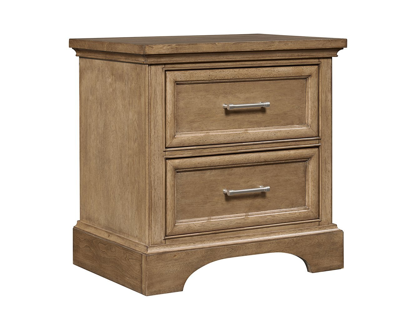 Stone & Leigh Chelsea Square 2 Drawer Nightstand in French Toast