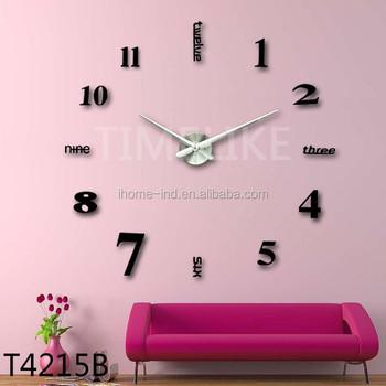 Big 3d diy dubai wall clock with sticker home decoration items for big 3d diy dubai wall clock with sticker home decoration items for wedding room junglespirit Image collections