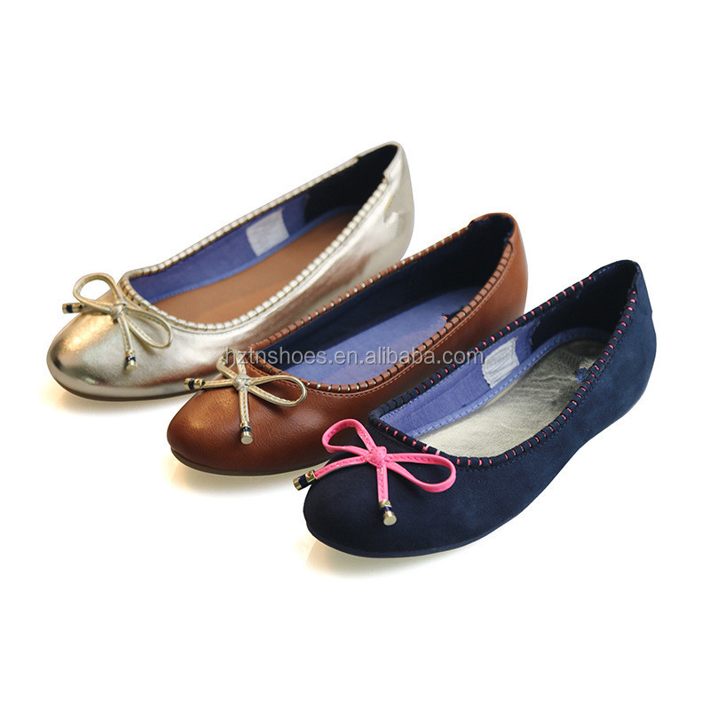 Newest spring fashion child-mom shoes low heel ballet with lovely bowtie big girls dolly shoes