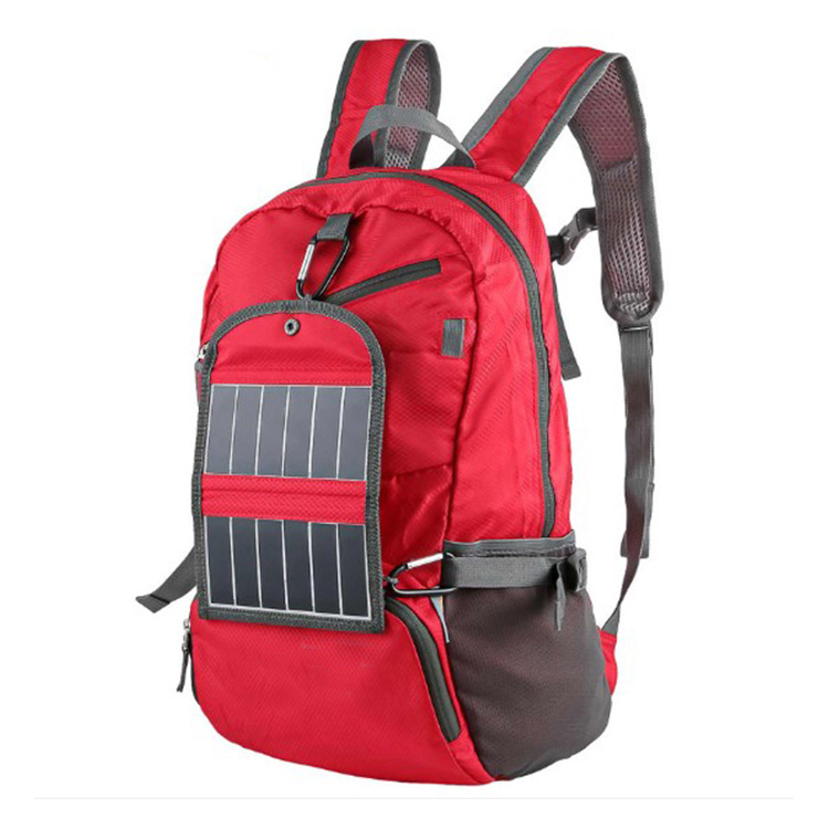 Outdoor Sports Lightweight Foldable Travel Backpack with Solar Panel