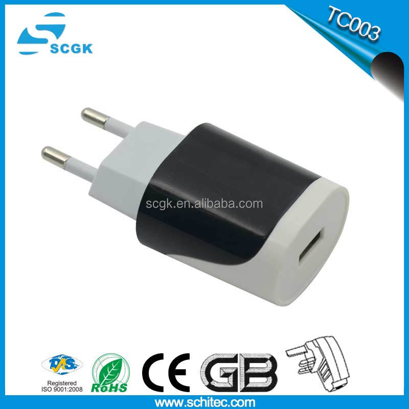 10W mobile travel charger 3g universal travel charger usb charger with led