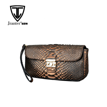 new fashion python snake skin women's clutch bag real leather clutch bag 2018