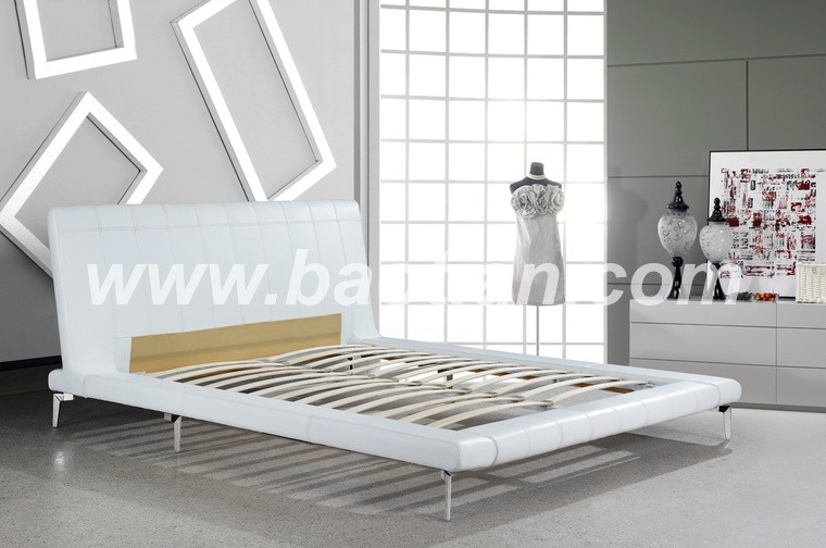 baotian furniture european high class leather bed framebed stand wholesale price - European Bed Frame