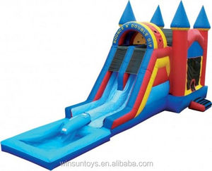 Inflatable Bounce N Double Dip Castle with Pool
