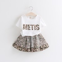C64864A 2015New Style Summer Baby Wear Suit Set Fashion Kids Girls Clothing