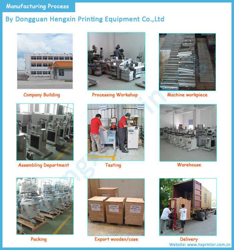 Factory price of semi-auto inspiratory screen printer