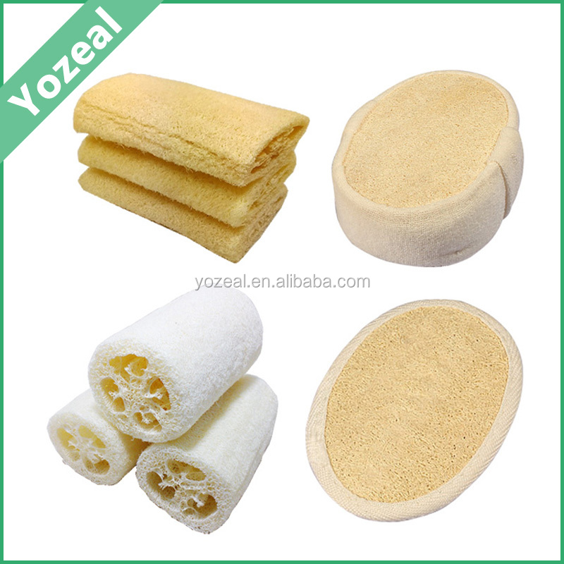 Cheap artificial raw disposable loofah for household or hotel