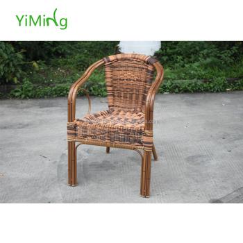Sedie In Rattan Da Esterno.Canna Sedia Per Esterni Patio Di Vimini Imitazione Di Bambu Rattan