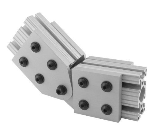 Big Discount for  Hole Inside Corner Bracket Aluminum T-slot Profiles Clear Anodized Extrusion