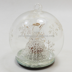 8cm christmas light up glass angel