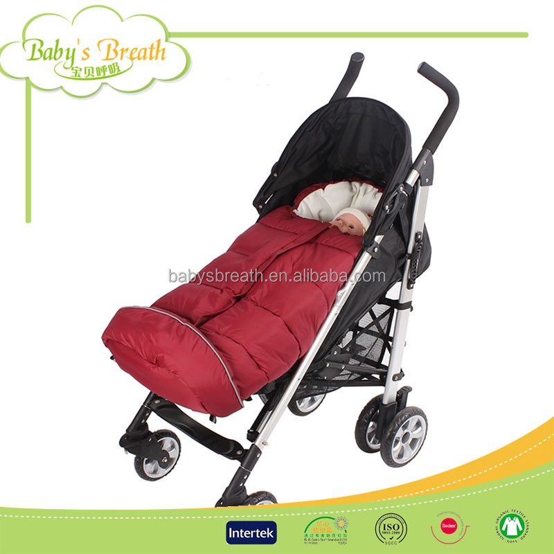 SSB-05B eco-friendly baby footmuff stroller cartoon sheepskin sleeping bag in winter
