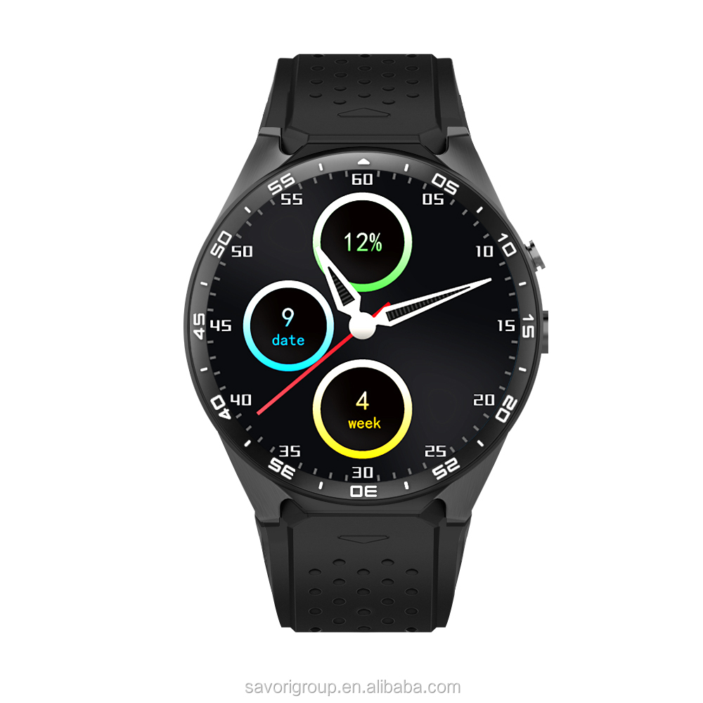 Wholesale smartwatch phone 3G WIFI Bluetooth GPS KW88 men sport smart watch in Shenzhen Savori Company