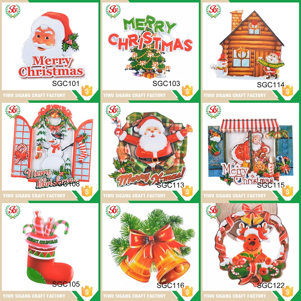 Made in china low price custom printing fridge magnet for American christmas decoration