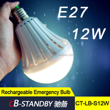 CE ROHS approved 12W led light bulb rechargeable emergency handy bulb
