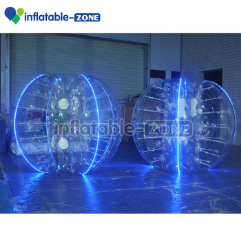 Shine Opblaasbare Led Bubble Voetbal,Verlichting Opblaasbare Flash ...