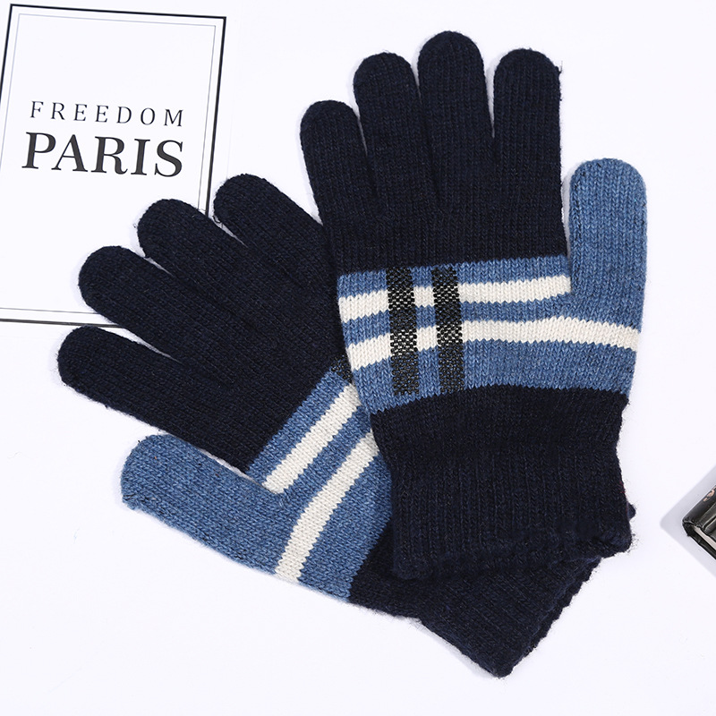 2019 new design warm acrylic and wool knitted winter unisex gloves