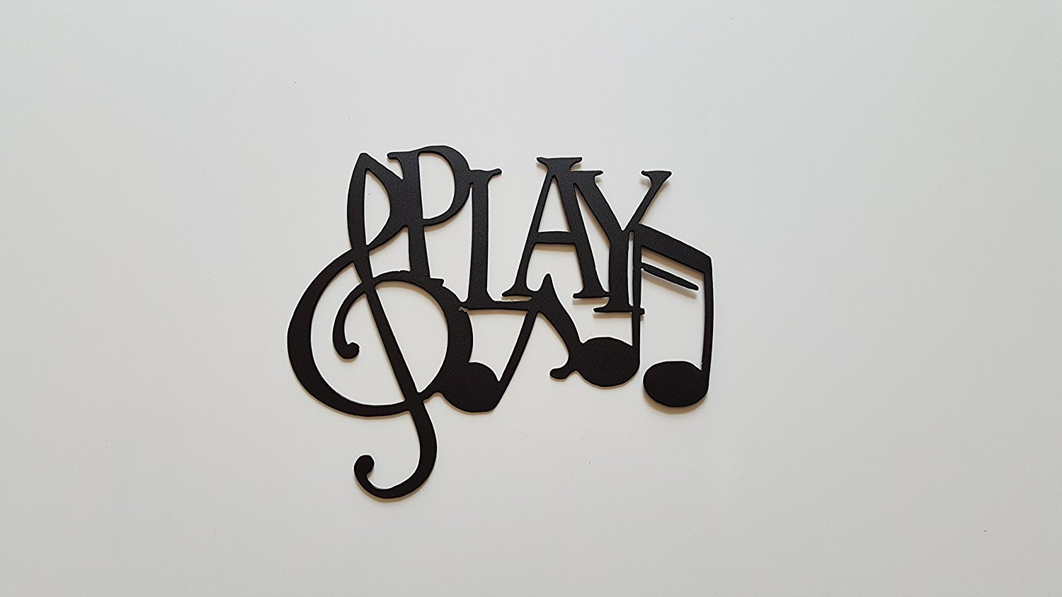 Buy Music Word And Music Notes Metal Wall Art Decor in Cheap