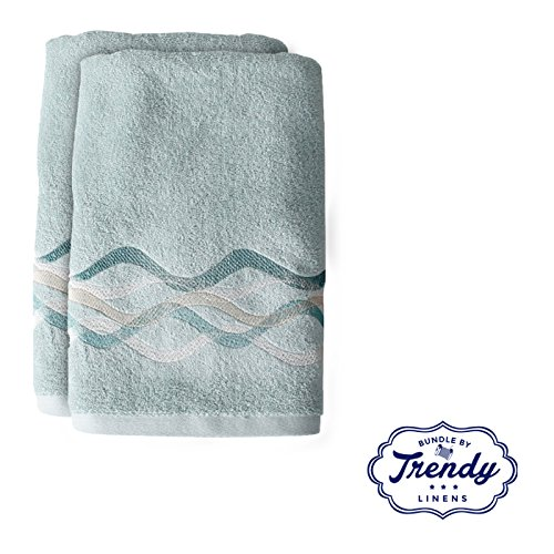 Genial Get Quotations · Sketchbook Waves Teal Bath Towels   Bathroom Shower  Collection   Set Of 2 Bath Towels
