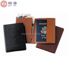 Embassy Solid Premium Genuine Leather Brown Passport Cover
