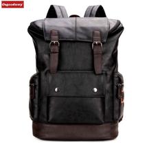 9b6c59f95867 Osgoodway простой лоскутное большой ёмкость для мужчин кожаный рюкзак для  путешествий повседневное Daypacks кожа путешествия