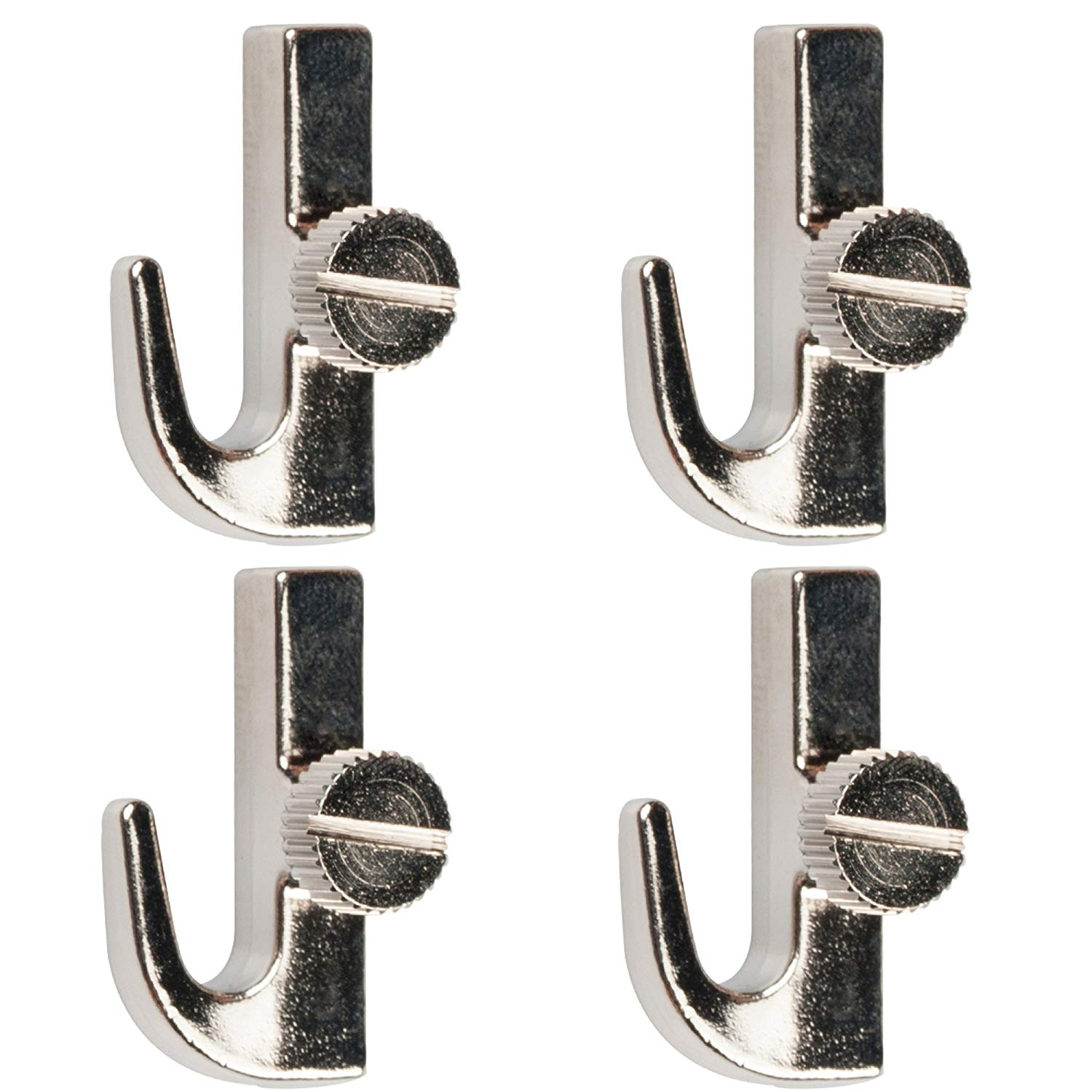 Adjustable Picture Hanging Cable Hooks, Side Tightening Hooks, zinc Alloy,Silver,Gallery Picture Frame Hanging Cable Hooks, Picture Hanging System Accessories,4 Pack