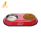 Wholesale Non-slip Stainless Steel Bowl Dog Feeder Pet Cat Double Bowl