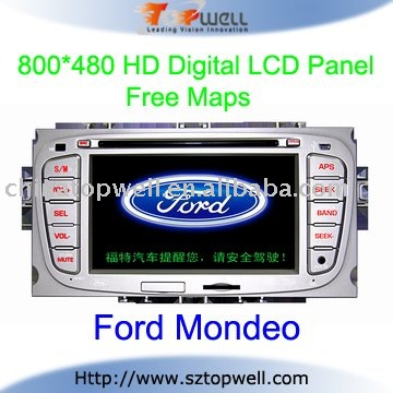 Special Touch Screen Bluetooth Car DVD GPS Player for Ford Mondeo with USB SD Card Port