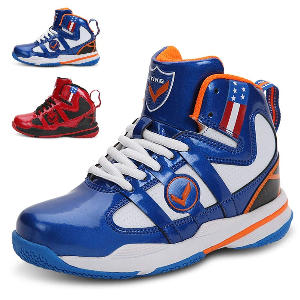 47478c2655da56 WETIKE Kid s Basketball Shoes High-Top Sneakers Outdoor Trainers Durable  Sport Shoes(Little Kid