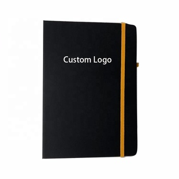 Custom Logo Elastic Band Diary with Book Marker
