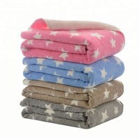 Star All Over Promo Fleece Brushed Cotton Cot Blanket