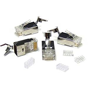 Cat6a/RJ45 STP Shielded Modular Plug (250 Pieces)