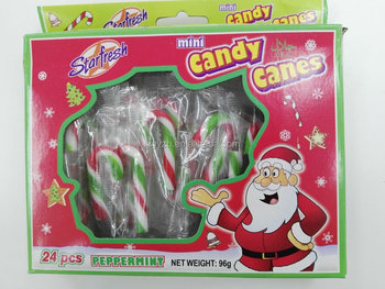 4g mini hard christmas candy cane customized packing sweets - Hard Christmas Candy