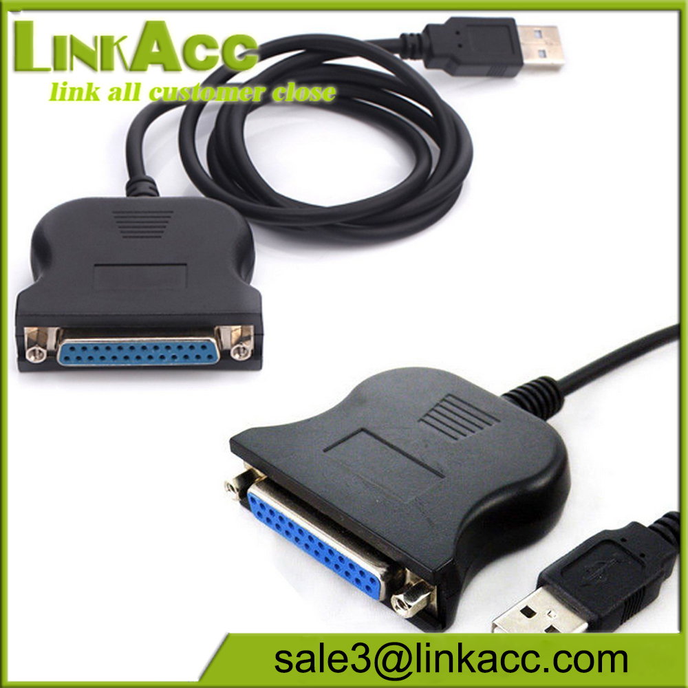 USB 2.0 to 25 Pin RS232 DB25 Female Parallel Printer IEEE Cable Lead Adapter