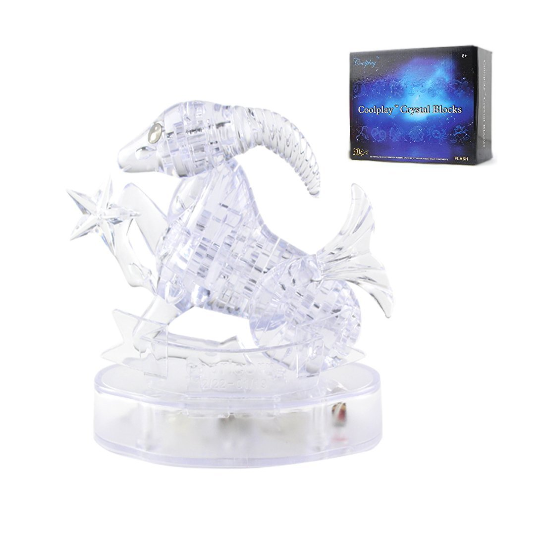 Coolplay® 3D Crystal Puzzle Horoscope - Capricorn DIY Jigsaw Great IQ Toy Model Decoration Gift Ideas