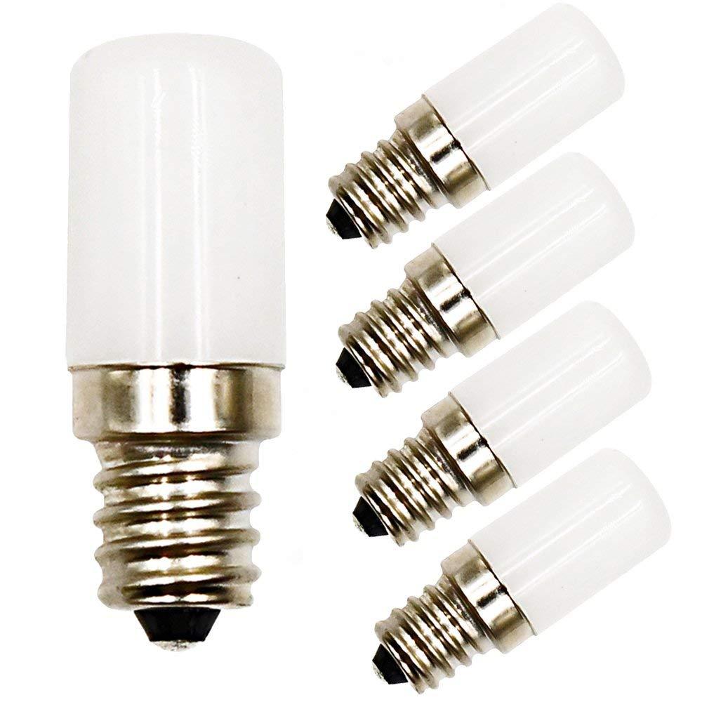 0.5 Watts LED C7 Night Light Bulb Lustaled 120V E12 Candelabra Base LED Light Bulb 10W Equivalent for Garden Patio Yard Ceiling Lights Christmas Lighting (Daylight 6000K, 4-pack)