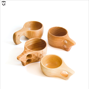 Creative solid milk Nordic breakfast rubber wood cups manufacturers wholesale can be LOGO wooden kuksa egg cup