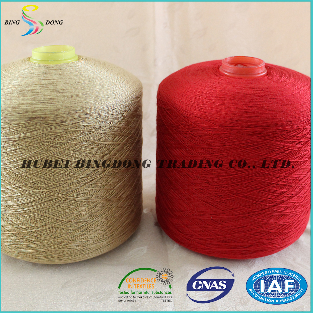 manufacturer dyeing mixed colors polyester yarn ne 60/2 count