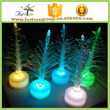 cheap lighteed mini ceramic christmas tree decoration for car