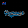 Gymnast blue sequins, rhinestone transfer - iron on hotfix motif for shirts