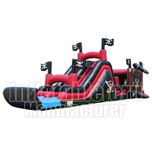 Pirate commercial jumping castles inflatable bouncy castle with water slide