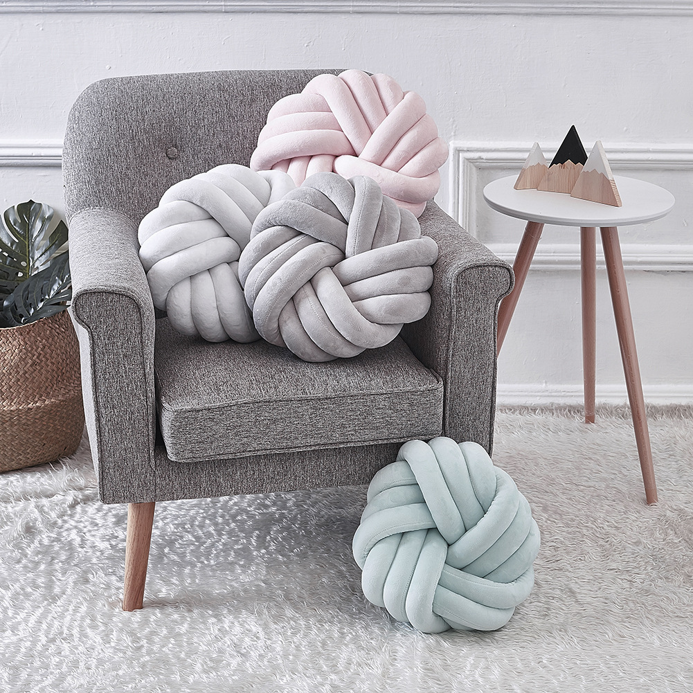 Provided 45cm Plush Handmade Woven Knot Ball Braid Pillow Knotted Cushion Sofa Decoration Baby Sleeping Appease Soft Stuffed Doll Toys & Hobbies