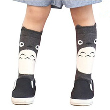 1Pair New fox design knee high baby socks girls totoro leg warmers knee pad Magic Socks