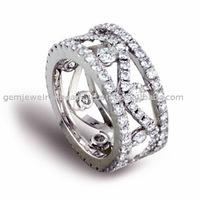 Super Fine Handmade White Gold Diamond Ring Jewellery Cool Design 2017