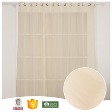 2017 Top Quality Famous Brand nice-looking through the rod sheer curtain hotel